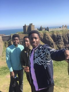in front of dunnotar castle